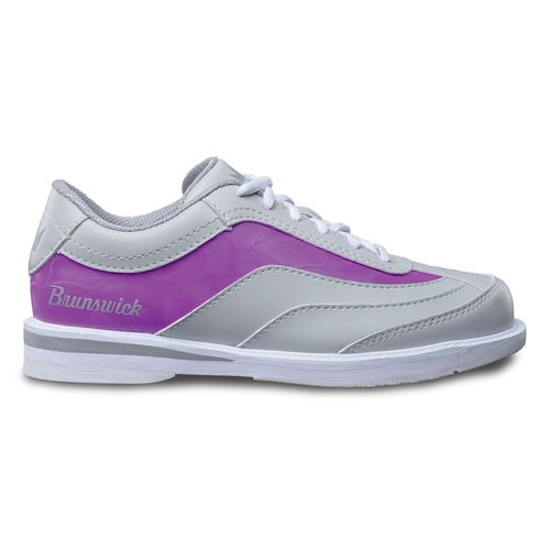 Brunswick Intrigue Womens Bowling Shoes Grey/Purple Right Hand