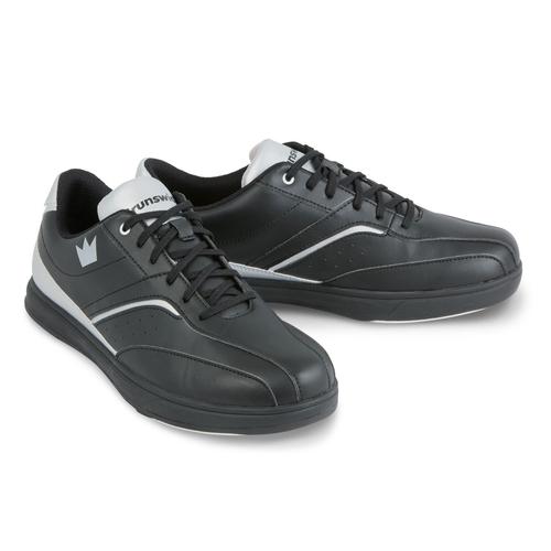 Brunswick Vapor Mens Bowling Shoes Black/Silver