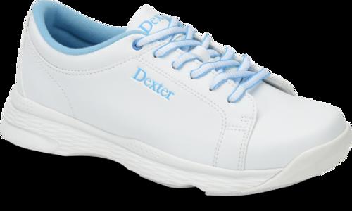 Dexter Raquel V Womens Bowling Shoes White/Blue WIDE