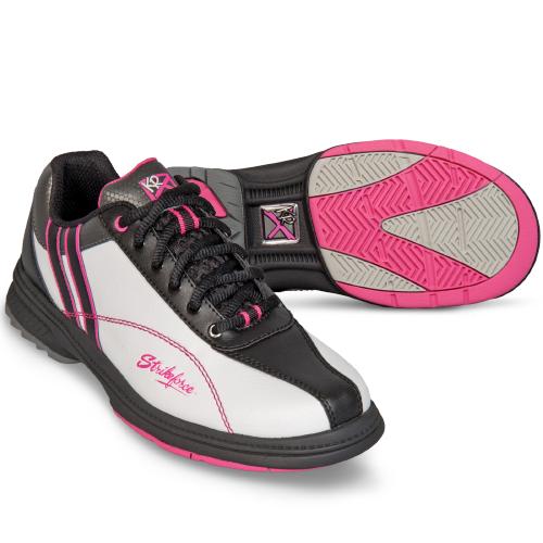 KR Strikeforce Womens Starr Bowling Shoes White/Black/Hot Pink