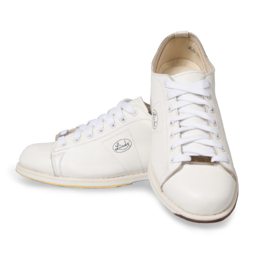 Linds Classic Mens Bowling Shoes White Leather Right Handed
