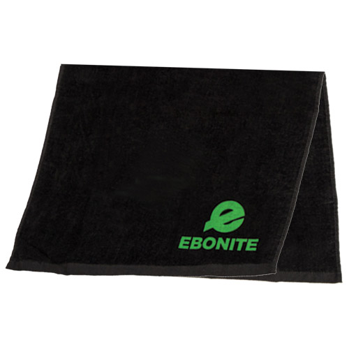 Ebonite Solid Cotton Bowling Towel Black