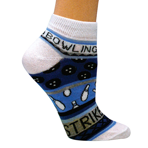 """Master Ladies """"Bowling Theme Blue"""" Socks"""
