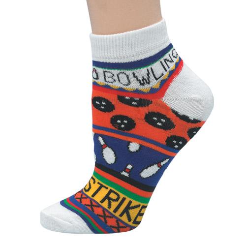 """Master Ladies """"Bowling Theme Orange"""" Socks"""