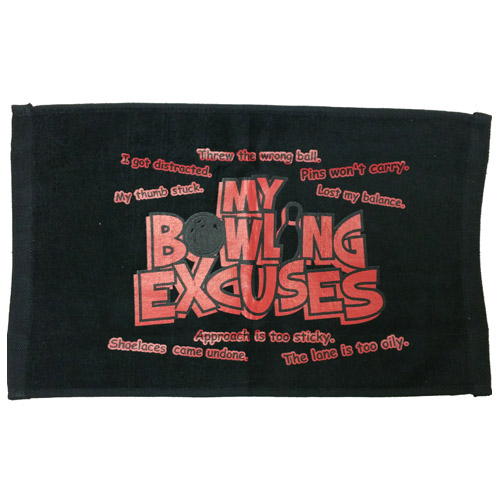 Master Bowling Excuses Towel Black