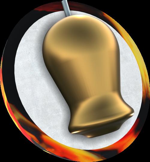 Ebonite Turbo/R Black/Copper/Yellow Bowling Ball Core