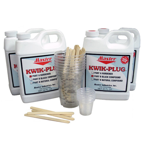 Master Kwik Plug Black Ball Plug 1 Gallon Kit