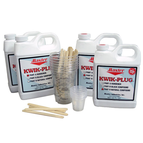 Master Kwik Plug Mixed Ball Plug 1 Gallon Kit