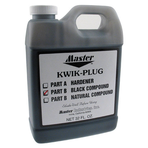 Master Kwik Plug Black Compound - 32 oz