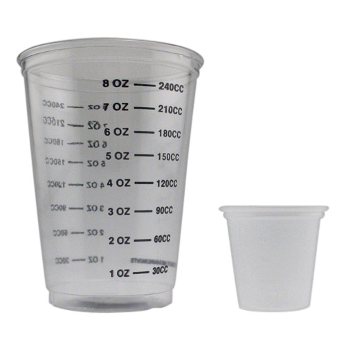 Master Mixing Cups 1 oz & 8 oz - 50 of Each