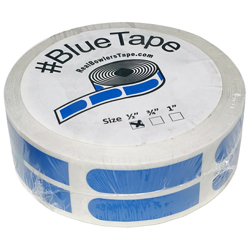 "Real Bowlers Tape Blue Smooth 1/2"" Bowling Tape - 500 Pieces"