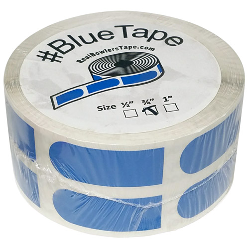 "Real Bowlers Tape Blue Smooth 3/4"" Bowling Tape - 500 Pieces"