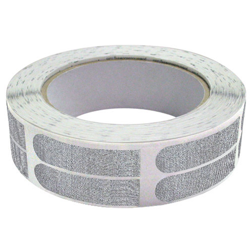 "Real Bowlers Tape Silver Textured 1/2"" Bowling Tape - 500 Pieces"