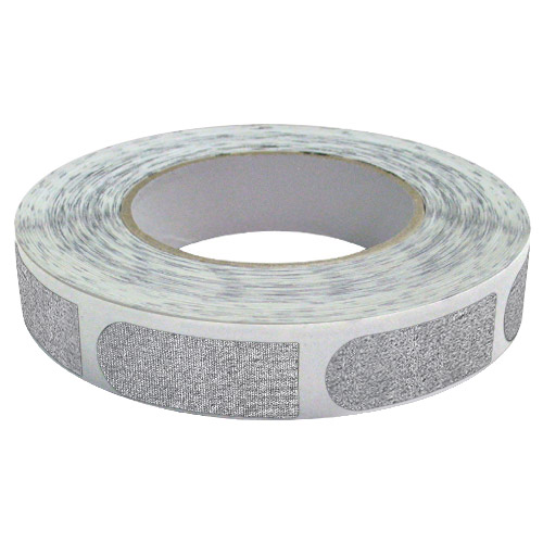 "Real Bowlers Tape Silver Textured 3/4"" Bowling Tape - 500 Pieces"