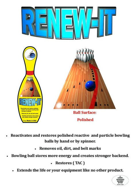 Neo Tac Renew-It Ball Cleaner - 32 oz