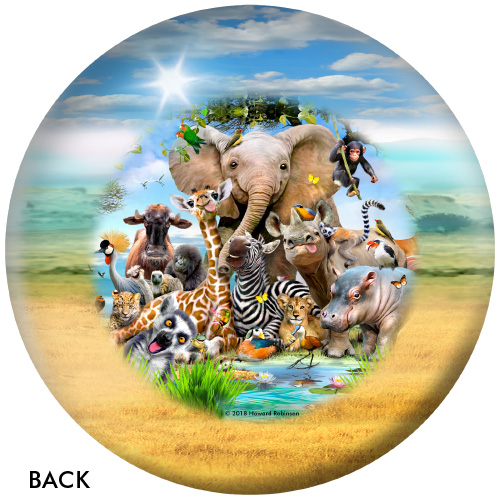 OTBB African Animals Selfies Bowling Ball