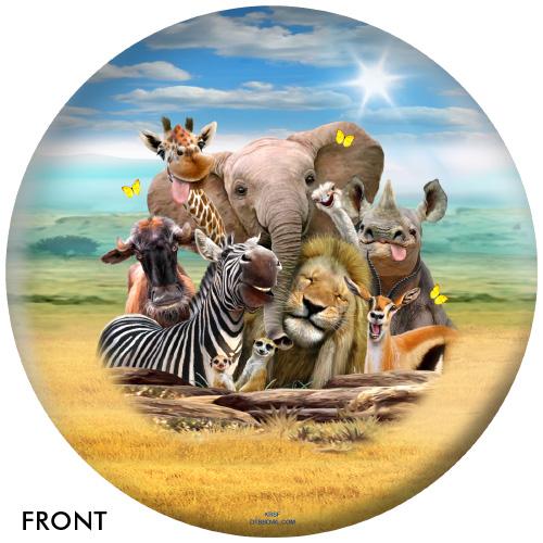 OTBB African Animals Selfies Bowling Ball