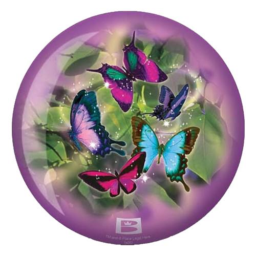 Brunswick Butterflies Viz-A-Ball Bowling Ball Back Side