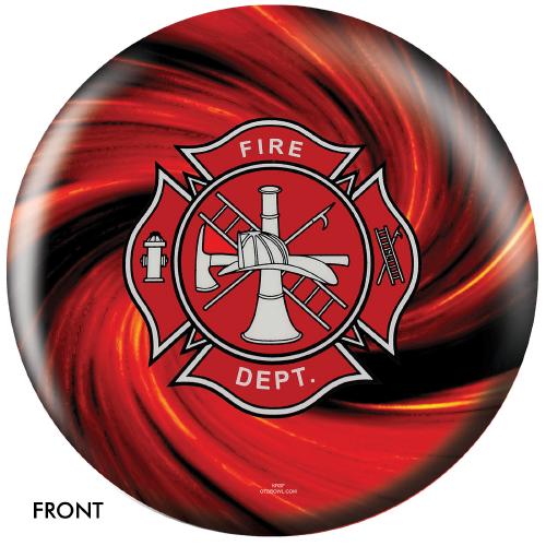 OTBB Fire Department Red Bowling Ball