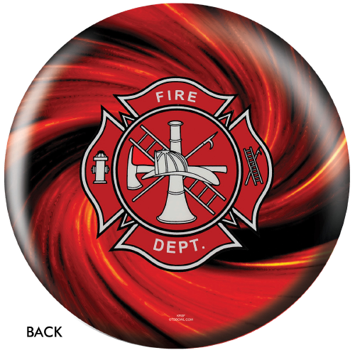 OTBB Fire Department Red Bowling Ball