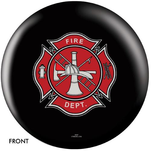 OTBB Fire Department Shield Black Bowling Ball