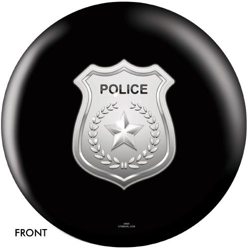 OTBB Police Department Shield Black Bowling Ball