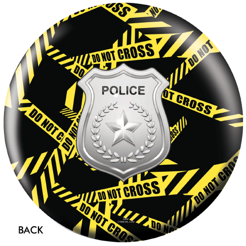 OTBB Police Department Yellow Tape Bowling Ball