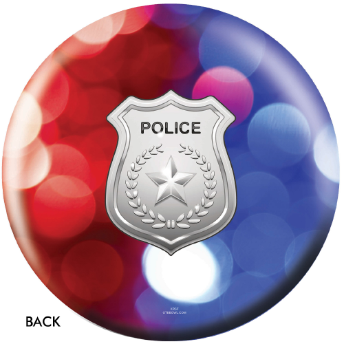 OTBB Police Department Red/Blue Lights Bowling Ball