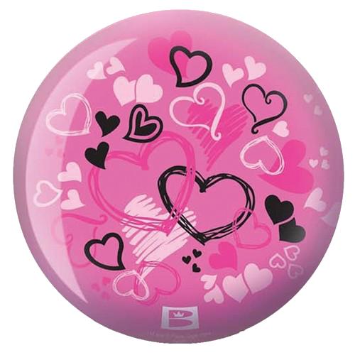 Brunswick Hearts Glow Viz-A-Ball Bowling Ball Back Side