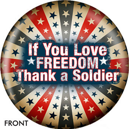 OTBB Thank A Soldier Bowling Ball