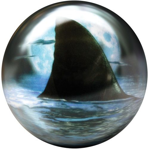 Brunswick Shark Viz-A-Ball Bowling Ball Back Side