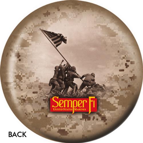 OTBB Marines Iwo Jima Bowling Ball
