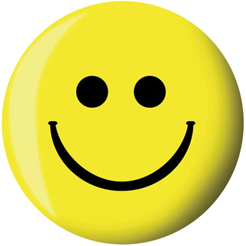 Brunswick Smiley Face Viz-A-Ball Bowling Ball