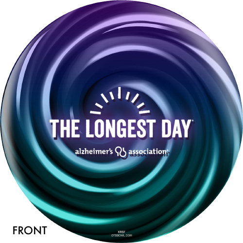 OTBB Alzeimer's Association The Longest Day Bowling Ball