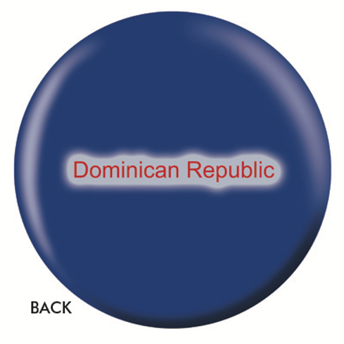 OTBB Dominican Republic Flag Bowling Ball