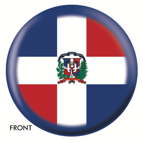OTBB Dominican Republic Flag Bowling Ball