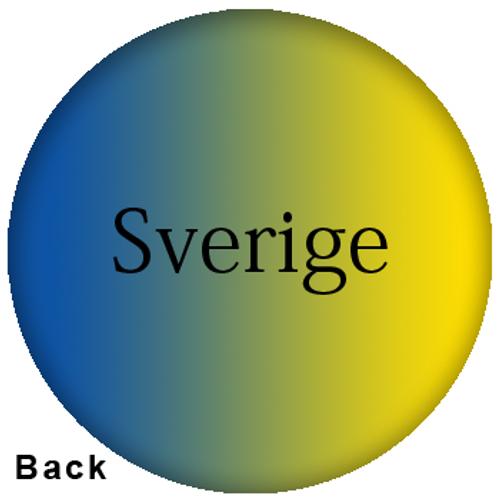 OTBB Swedish Flag Bowling Ball