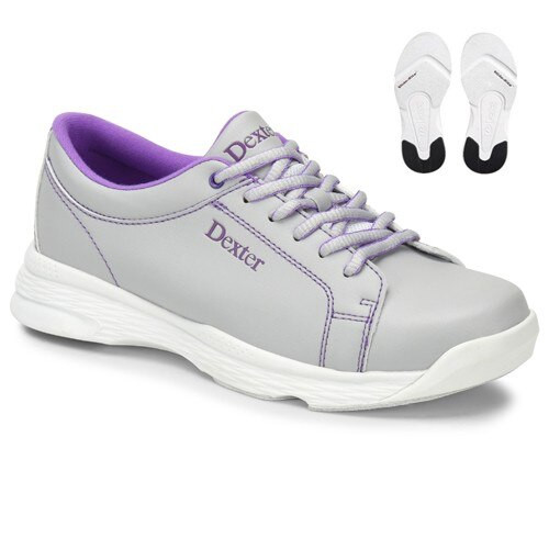 Dexter Raquel V Womens Bowling Shoes Ice/Violet WIDE