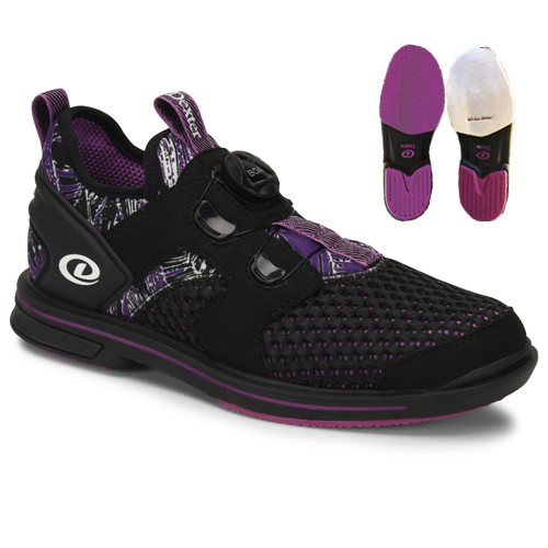 Dexter Pro BOA Womens Bowling Shoes Black/Purple Right Hand