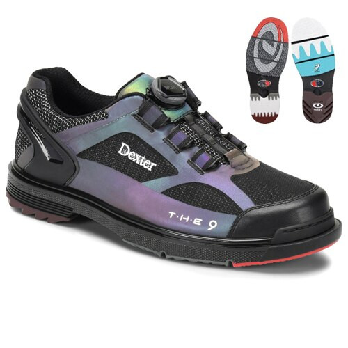 Dexter THE 9 HT BOA Mens Bowling Shoes Color Shift Hot Melt WIDE