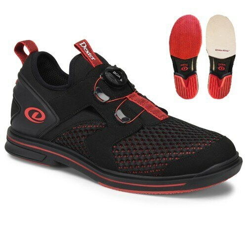 Dexter Pro BOA Mens Bowling Shoes Black/Red Right Hand WIDE