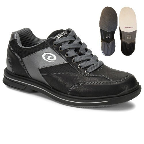 Dexter Match Play Mens Bowling Shoes Black/Alloy Right Hand WIDE