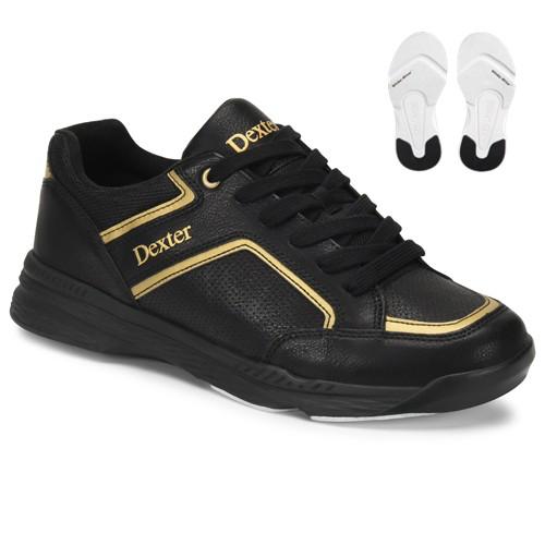 Dexter Bud Mens Bowling Shoes Black/Gold