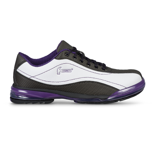 Hammer Lady Force Womens Bowling Shoes White/Black/Purple Right Handed