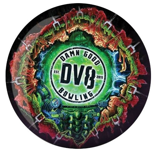 DV8 Zombie Spare Bowling Ball Back Side
