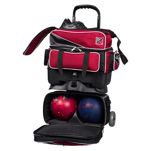 KR Strikeforce Fast 4 Ball Roller Bag Brick Red/Black