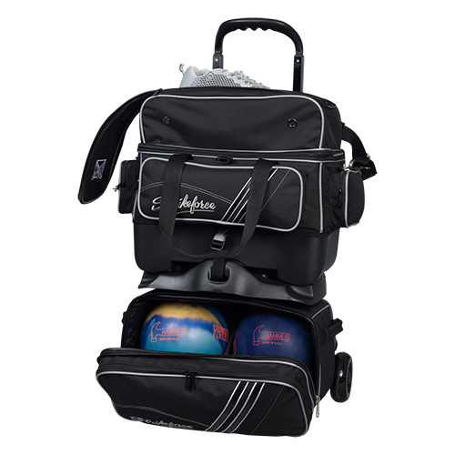 KR Strikeforce LR4 Sport 4 Ball Roller Bag Black