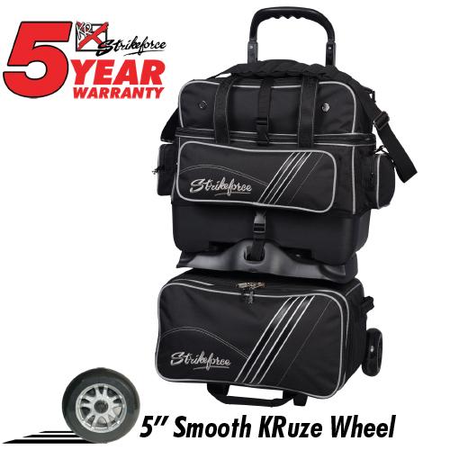 KR Strikeforce LR4 Sport 4 Ball Roller Bag Black