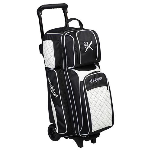 KR Strikeforce Royal Flush 3 Ball Roller Bag Black/White