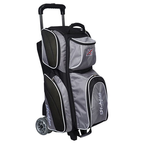 KR Strikeforce Apex 3 Ball Roller Bag Silver/Black